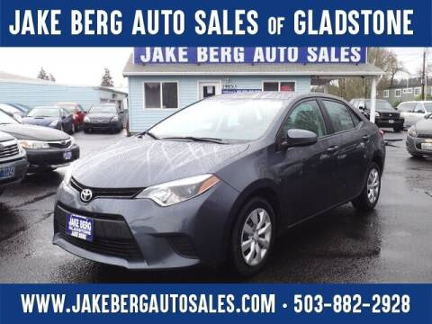 2014 Toyota Corolla for sale at Jake Berg Auto Sales in Gladstone OR