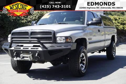 1999 Dodge Ram Pickup 2500 for sale at West Coast Auto Works in Edmonds WA