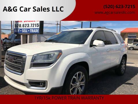 2014 GMC Acadia for sale at A&G Car Sales  LLC in Tucson AZ