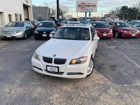 2008 BMW 3 Series for sale at Supreme Auto Sales in Chesapeake VA