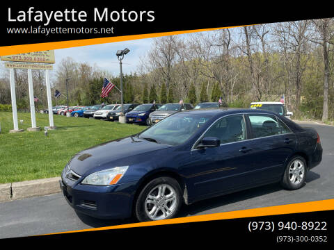 2006 Honda Accord for sale at Lafayette Motors 2 in Andover NJ