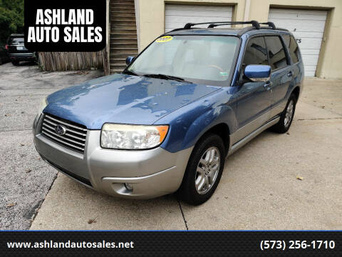 2007 Subaru Forester for sale at ASHLAND AUTO SALES in Columbia MO