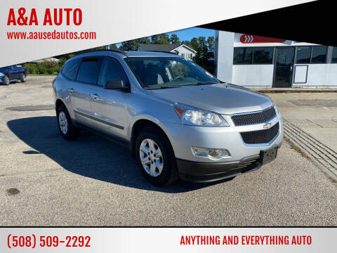 2012 Chevrolet Traverse for sale at A&A AUTO in Fairhaven MA