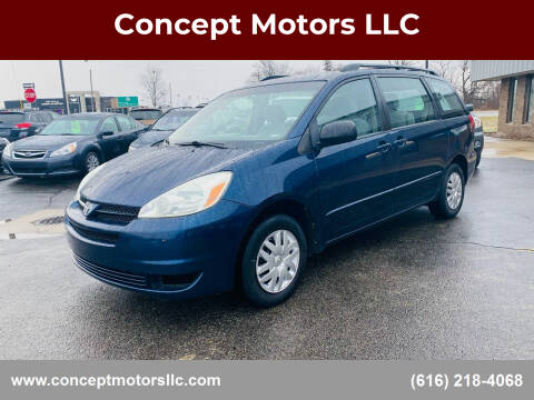 2004 Toyota Sienna for sale at Concept Motors LLC in Holland MI