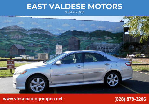 2007 Toyota Camry for sale at EAST VALDESE MOTORS in Valdese NC