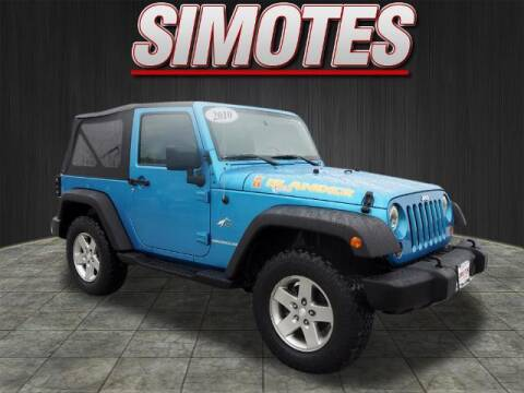 2010 Jeep Wrangler for sale at SIMOTES MOTORS in Minooka IL