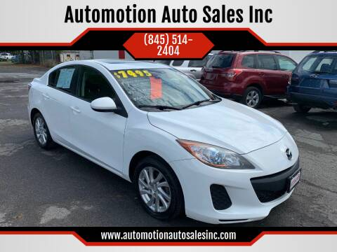 2012 Mazda MAZDA3 for sale at Automotion Auto Sales Inc in Kingston NY