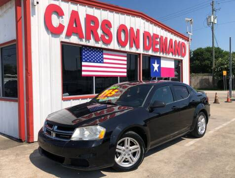 2013 Dodge Avenger for sale at Cars On Demand 3 in Pasadena TX