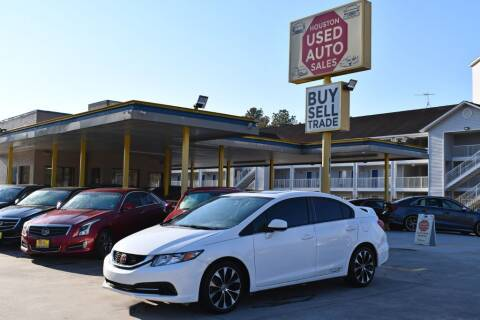 2013 Honda Civic for sale at Houston Used Auto Sales in Houston TX