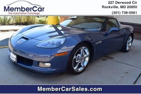2012 Chevrolet Corvette for sale at MemberCar in Rockville MD