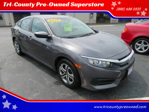 2017 Honda Civic for sale at Tri-County Pre-Owned Superstore in Reynoldsburg OH