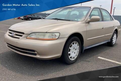 2001 Honda Accord for sale at Gordon Motor Auto Sales Inc. in Norfolk VA