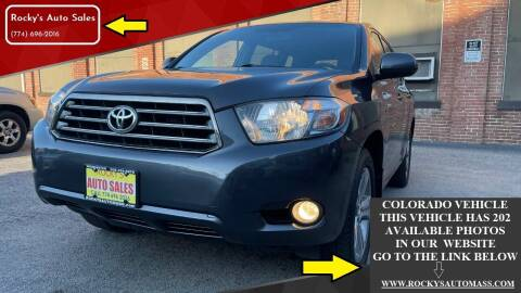 2008 Toyota Highlander for sale at Rocky's Auto Sales in Worcester MA