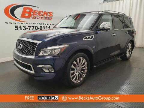 2015 Infiniti QX80 for sale at Becks Auto Group in Mason OH