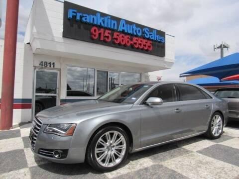2013 Audi A8 L for sale at Franklin Auto Sales in El Paso TX