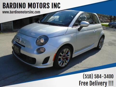 2014 FIAT 500c for sale at BARDINO MOTORS INC in Saratoga Springs NY