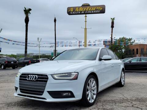 2013 Audi A4 for sale at A MOTORS SALES AND FINANCE in San Antonio TX
