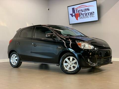 2015 Mitsubishi Mirage for sale at Texas Prime Motors in Houston TX