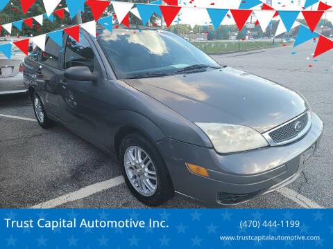 2005 Ford Focus for sale at Trust Capital Automotive Inc. in Covington GA