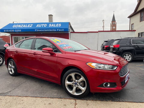 2014 Ford Fusion for sale at Gonzalez Auto Sales in Joliet IL