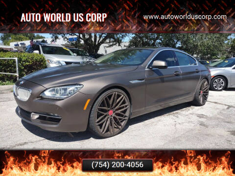 2013 BMW 6 Series for sale at Auto World US Corp in Plantation FL