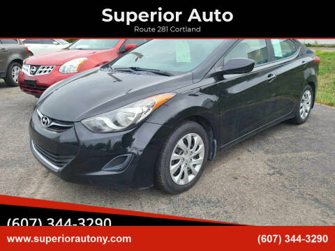 2013 Hyundai Elantra for sale at Superior Auto in Cortland NY