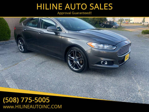 2016 Ford Fusion for sale at HILINE AUTO SALES in Hyannis MA