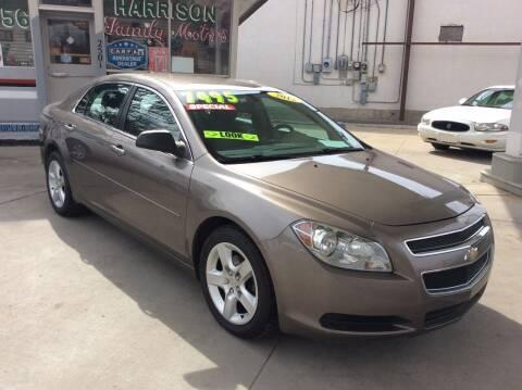 2012 Chevrolet Malibu for sale at Harrison Family Motors in Topeka KS