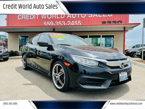 2016 Honda Civic for sale at Credit World Auto Sales in Fresno CA