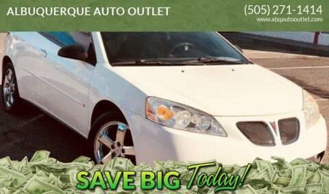 2006 Pontiac G6 for sale at ALBUQUERQUE AUTO OUTLET in Albuquerque NM