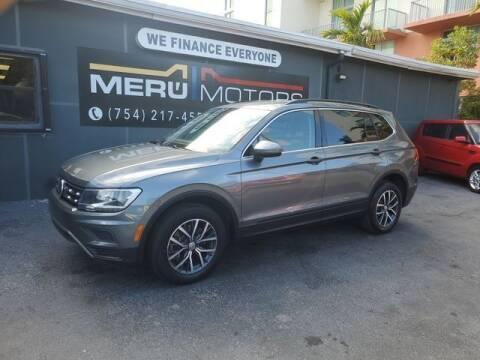 2019 Volkswagen Tiguan for sale at Meru Motors in Hollywood FL