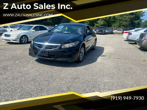 2011 Honda Accord for sale at Z Auto Sales Inc. in Rocky Mount NC
