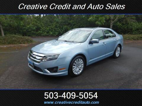 2010 Ford Fusion Hybrid for sale at Creative Credit & Auto Sales in Salem OR