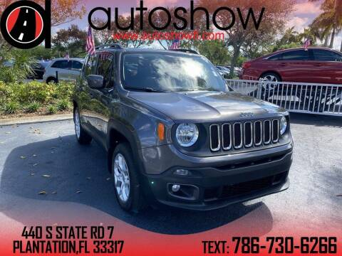 2018 Jeep Renegade for sale at AUTOSHOW SALES & SERVICE in Plantation FL