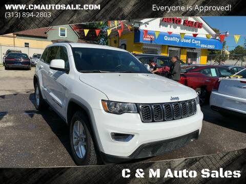 2017 Jeep Grand Cherokee for sale at C & M Auto Sales in Detroit MI