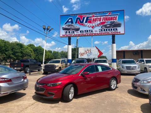 2018 Chevrolet Malibu for sale at ANF AUTO FINANCE in Houston TX