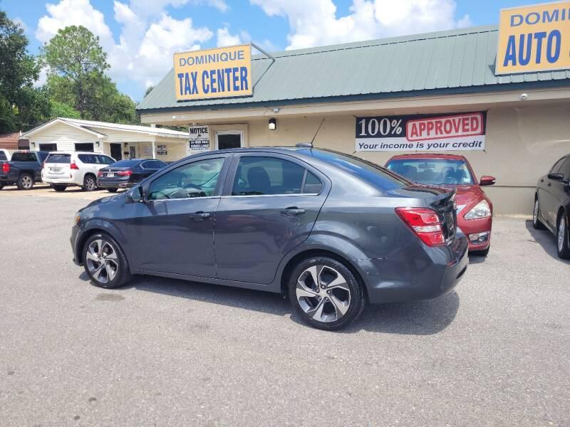 2017 Chevrolet Sonic for sale at Dominique Auto Sales in Opelousas LA