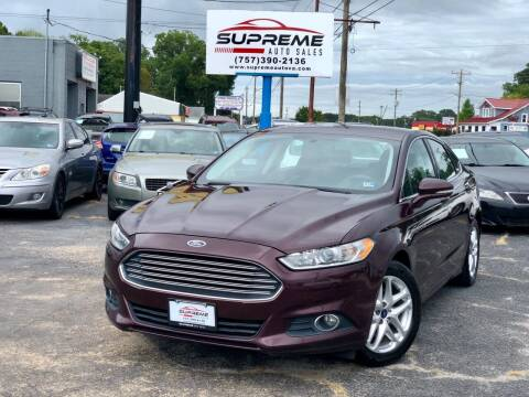 2013 Ford Fusion for sale at Supreme Auto Sales in Chesapeake VA