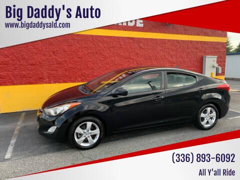 2013 Hyundai Elantra for sale at Big Daddy's Auto in Winston-Salem NC