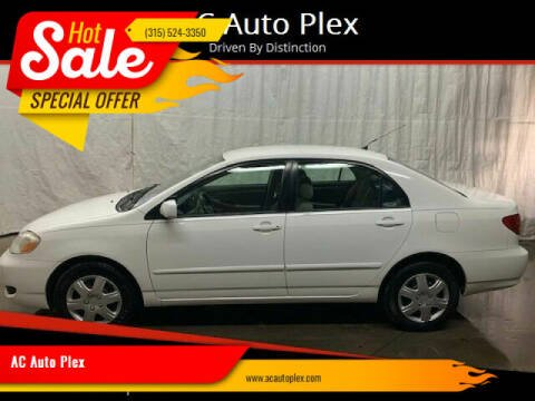 2006 Toyota Corolla for sale at AC Auto Plex in Ontario NY
