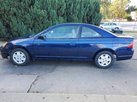 2003 Honda Civic for sale at Tims Auto Sales in Rocky Mount NC