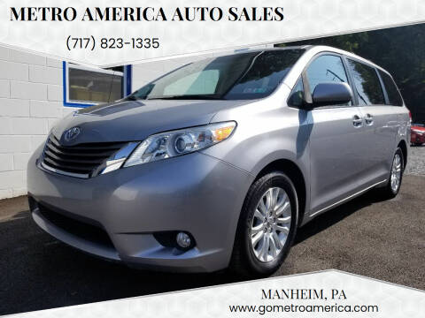 2014 Toyota Sienna for sale at METRO AMERICA AUTO SALES of Manheim in Manheim PA