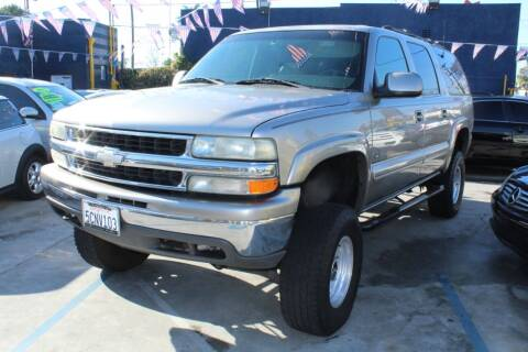 2000 Chevrolet Suburban for sale at FJ Auto Sales in North Hollywood CA