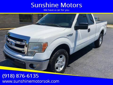 2013 Ford F-150 for sale at Sunshine Motors in Bartlesville OK