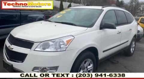 2012 Chevrolet Traverse for sale at Techno Motors in Danbury CT
