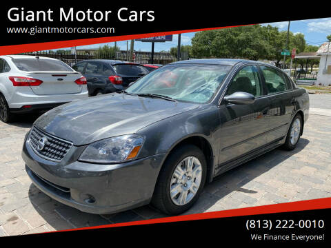 2006 Nissan Altima for sale at Giant Motor Cars in Tampa FL