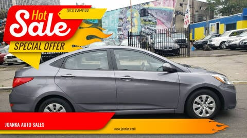 2016 Hyundai Accent for sale at JOANKA AUTO SALES in Newark NJ
