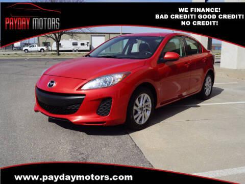 2013 Mazda MAZDA3 for sale at Payday Motors in Wichita And Topeka KS