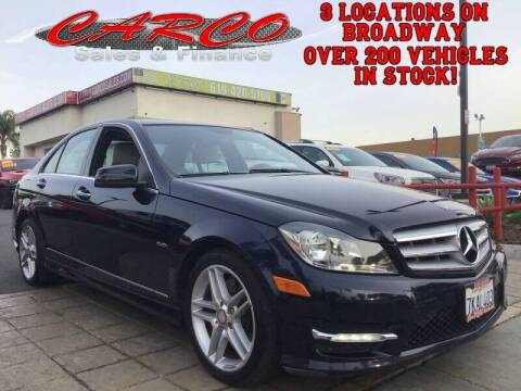 2012 Mercedes-Benz C-Class for sale at CARCO SALES & FINANCE in Chula Vista CA