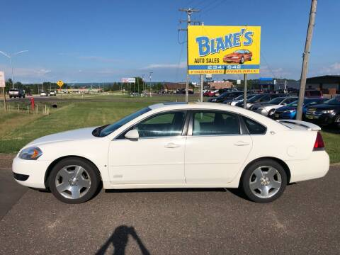2008 Chevrolet Impala for sale at Blake's Auto Sales in Rice Lake WI